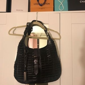 Burberry black leather shoulder bag
